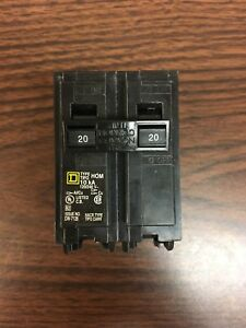 50 Square D Homeline 20a 2p Circuit Breakers