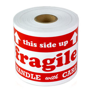 Fragile Labels Handle Arrow This Side Up Shipping Caution Stickers 3 x5 4pk