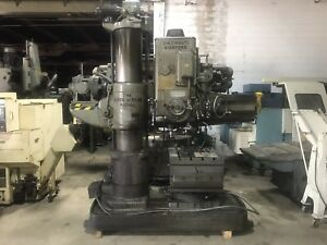 Cincinnati Bickford Radial Arm Drill 4e 13 Column Swivel Box Table