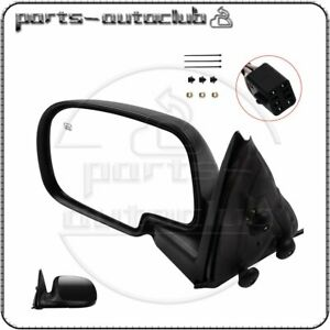 Driver Side View Mirror Power Heated Black Left For 00 02 Chevy Gmc Lh Yukon Xl