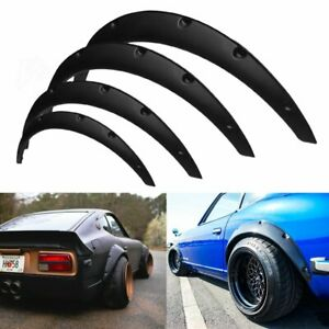 4pcs Jdm Universal Fender Flares 50mm 75mm Wide Body Kit Wheel Arches Durable Pu