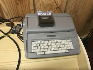 Brother Sx 4000 Electronic Typewriter With Keyboard Cover Working