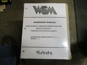 Kubota G3200 G4200 G5200 G6200 G 3200 4200 5200 6200 Tractor Repair Manual