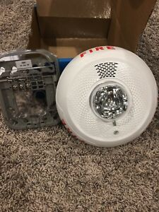 System Sensor Fire Alarm Pc2wl Ceiling Mount Horn Strobe Units White Honeywell