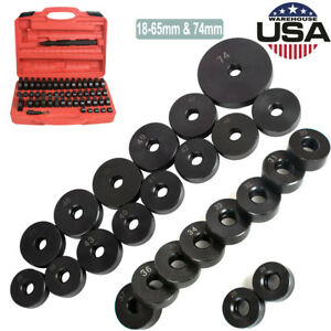 50pcs Deluxe Bearing Seal Driver Tool Kit Custom Bushing Bearing Hydraulic Press