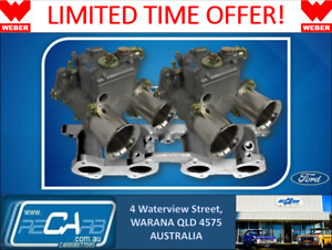Ford Cortina 1600cc X flow Genuine Twin 45 Dcoe Weber Carburettor Conv Kit