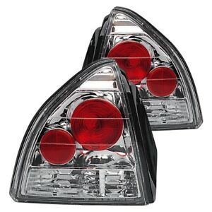 For Honda Prelude 1992 1996 Ipcw Chrome red Euro Tail Lights