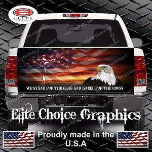 Stand For The Flag Truck Tailgate Wrap Vinyl Graphic Decal Sticker