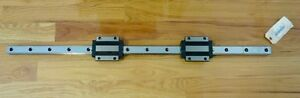 Thk Linear 42 1 2 Motion Guide Rail With A Pair Of Size 35 Bearing Blocks New