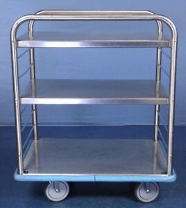 Rolling Stainless Hoop Cart Medical Supply Cart With Warranty