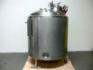 Dci 1500 Liter Stainless Steel 50 Psi Jacketed Process Tank Pressure Vessel