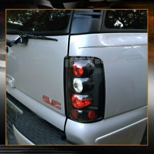 New For 2000 2006 Chevy Suburban Tahoe Gmc Yukon Denali Black Tail Lights Lamps