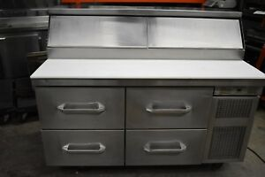 Randell 62 4 Drawer Refrigerated Pizza sandwich Prep Table