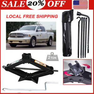 For 2002 2014 Dodge Ram 1500 Spare Tire Tool Kit Replacement Tools Jack 2 Ton