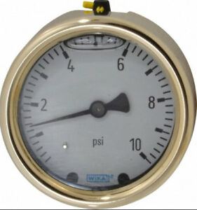 New Wika 9629556 Pressure Gauge All Brass 10psi 1 4 Npt Free Us Shipping
