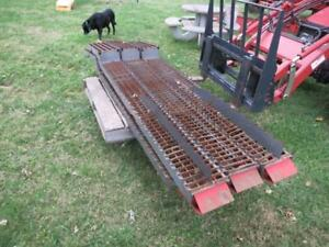 Complete Set Of Straw Walkers From A 550 Massey Ferguson Combine