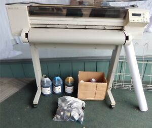 Hp Designjet 650c Large Format Inkjet Printer With Accessories