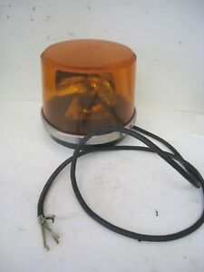 Federal Signal Amber Rotating Beacon Public Safety Lights For Vehicle Halogen