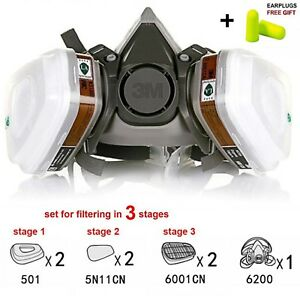 Half Face Paint Dust Respirator Mask 2 Filter Multi purpose Airsof Safety New