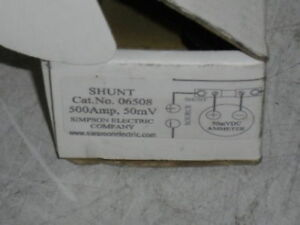 Simpson 06508 Shunt 500a new