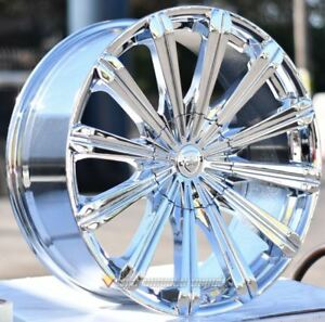 28 Inch B18 Chrome Wheels Tires All 6 Lug Sierra 6x5 5 6x139 7