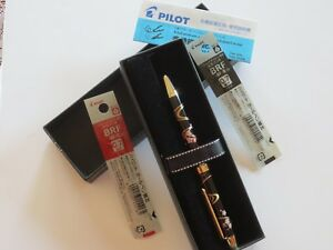 Pilot Mechanical Pencil Ballpoint Pen Fine Black Red 2 in 1 Sakura Miyabi Emaki