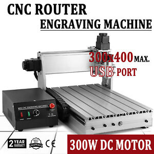 Usb Cnc Router Engraver Engraving Cutting Machine 3 Axis 3040t 300x400mm