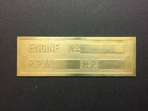 New Hercules Economy Brass Data Tag Antique Gas Engine Hit Miss