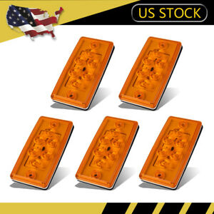 5pcs 6led Roof Top Clearance Top Marker Running Light Assembly For Freightliner