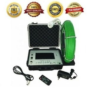 Sewer Drain Pipe 1 Inspection Video Camera Cleaner 7 Color Lcd Display 65 Ft