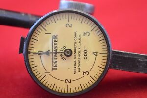 Federal Testmaster Dial Indicator With Clamp And Rod U s a