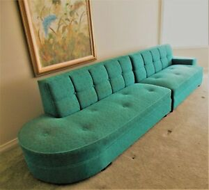 Vintage Mid Century Sectional Couch Sofa 2 Pieces