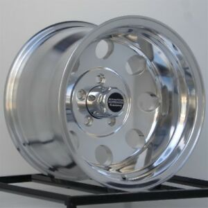 15 Inch Polished Wheels Rims Chevy Gmc Truck 1 2 Ton 5 Lug 5x5 Are Baja 15x10