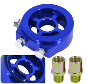 M20x1 5 Oil Filter Temperature Pressure Gauge Sensor Adapter Sandwich Plate Blue