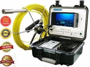 Sewer Drain Pipe Cleaner 1 Inspection Video Snake Camera 100 Ft Lcd 7 Usb Sd