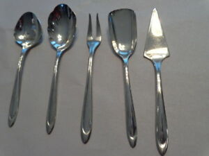 Meriden Silver Plate Co First Lady 5 Pc Hors D Oeuver Serving Set