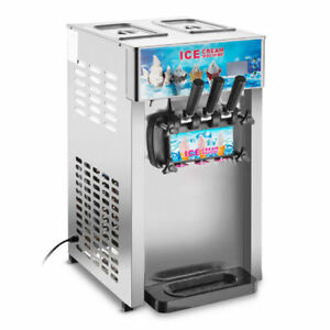 Commercial Soft Ice Cream Machine 3 Flavors Frozen Ice Cream Maker self Pick Up