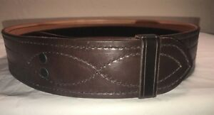 Nos Tex Shoemaker Brown Police security Buckleless Duty Belt_tsize 34