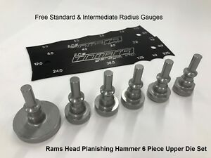 Rams Head Planishing Hammer 6 Piece Upper Die Set