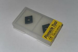 2 New Pinnacle Tool Cnmg 432 120408 Cbn Polycrystalline Diamond Carbide Inserts