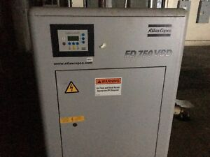 Atlas Copco 2008 Refrigerated Air Compressor Dryer Fd 750 Vsd Type Fd 750
