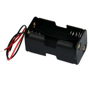 2 slot 4 X Aa Battery Holder Two Sides Power Supply Case Box Storage With Wire