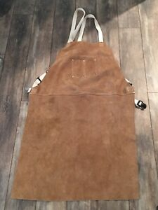 Genuine Leather Welding Work Bbq Apron