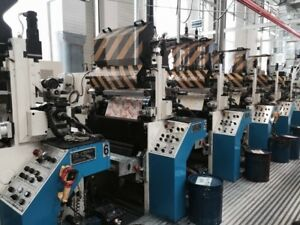 1999 Gallus Bhs 650 Mm 9 Color Flexo Stack Printing Machine