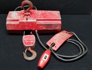 Dayton Model 2z668 500 Lb Pound Capacity Electric Wire Rope Cable Mini Hoist