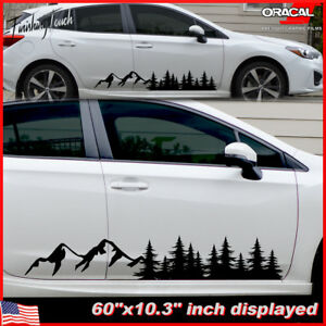 Single Side Mountain Trees Decal Forest Vinyl Graphic Camper Rv Trailer Truck