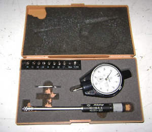 Used Mitutoyo Dial Bore Gage Gauge Model 511 201 0 01 10 Mm 10 18 5 A Parts