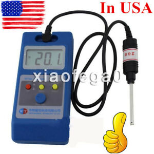 Wt10a Lcd Tesla Meter Gaussmeter Surface Magnetic Field Tester Metal Prob Usa