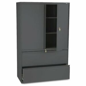 Hon 800 Series Wide Lateral File With Storage Cabinet 42 X 19 3 X 895lss
