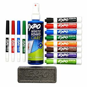 Expo Low Odor Dry Erase Marker Kit Fine Marker Point Type Chisel san80054